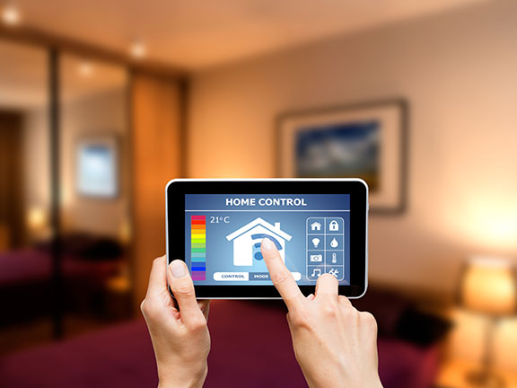 A smart home controlled via a network connected tablet