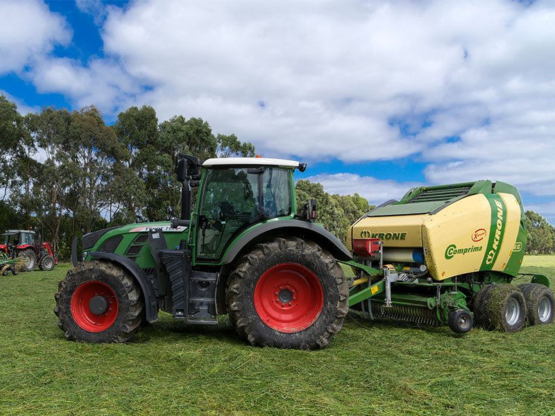 Tractor sales are steady, while harvesters are coming off