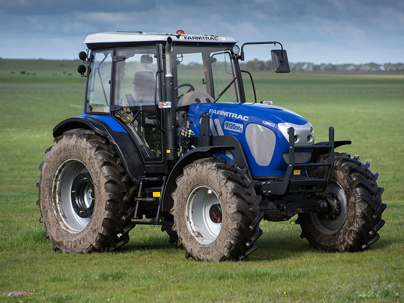The Farmtrac 9120DTN tractor front on