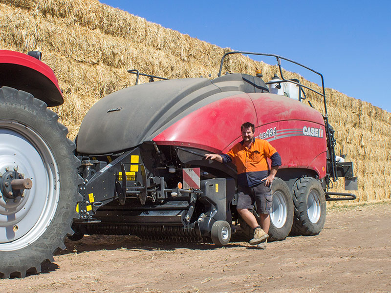Scott Somers and his Case IH baler