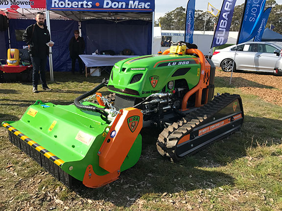 The remote controlled Green Climber LV 300 mower
