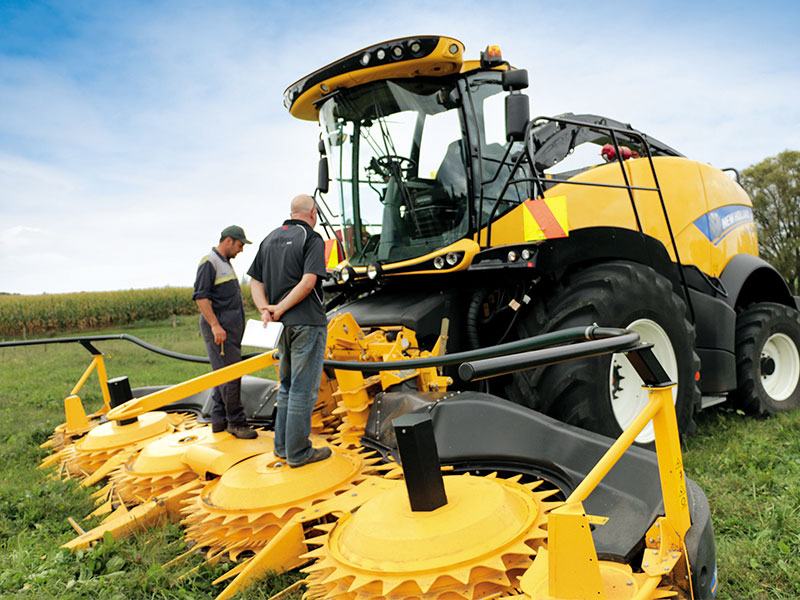 The New Holland FR780 forage harvester